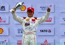 David Juliano Sitanala juara 3 Formula 4 China