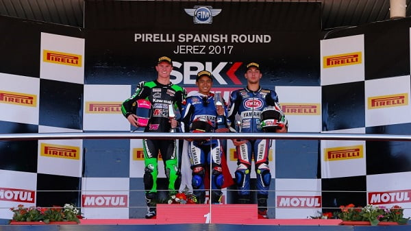 Galang Hendra Pratama di World Supersport 300 Jerez 2017