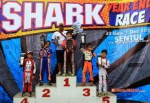 Daffa AB juara kelas Mini Eshark Year End race 2018